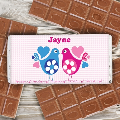 Love Heart Birds Chocolate Bar delivery to UK [United Kingdom]