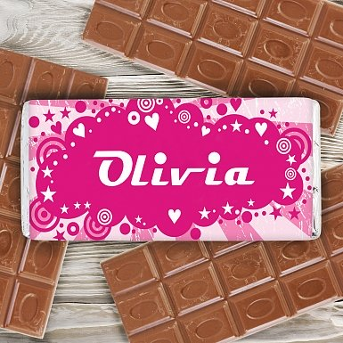 Personalised Retro Milk Chocolates Bar