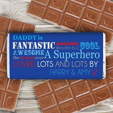 Personalised He Is Milk Chocolates Bar