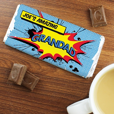 Personalised Comic Book Chocolates Bar
