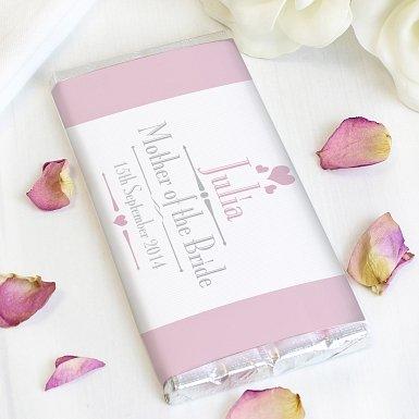 Personalised Decorative Wedding Female Milk Chocolates Bar