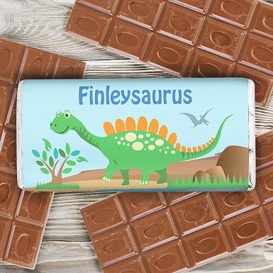 Personalised Dinosaur Milk Chocolates Bar