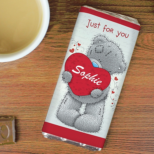 Personalised Me to You Big Heart Milk Chocolates Bar
