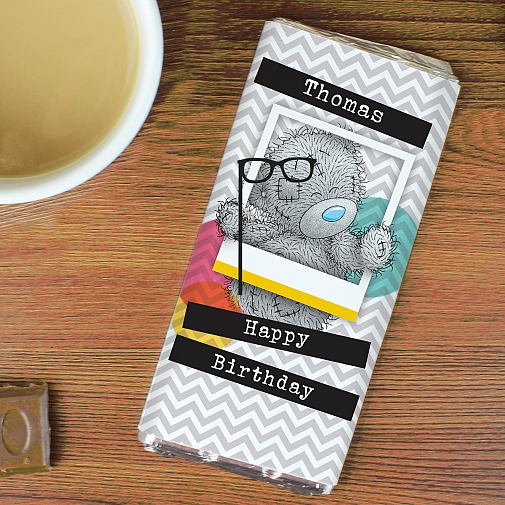 Personalised Me to You Trendy Snapshot Milk Chocolates Bar