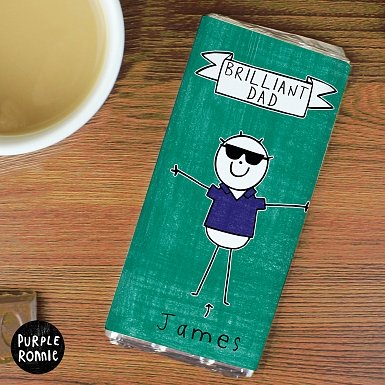 Personalised Purple Ronnie Cool Dude Milk Chocolates Bar