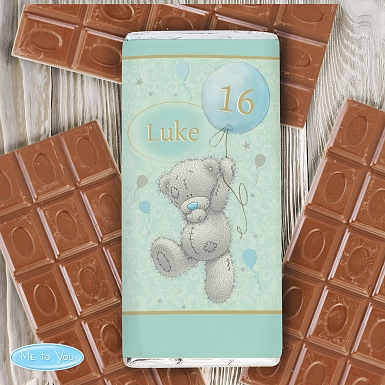 Personalised Me To You Balloon Milk Chocolates Bar