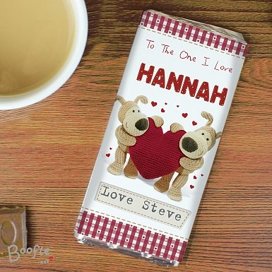 Personalised Boofle Shared Heart Chocolates Bar