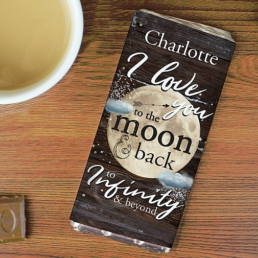 Personalised To the Moon & Infinity... Chocolates Bar