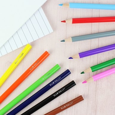 Personalised Pack of 12 Colouring Pencils