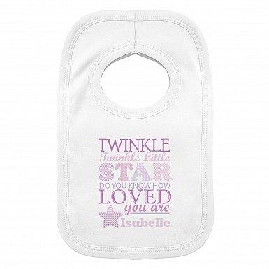 Personalised Twinkle Girls 0-3 Months Baby Bib