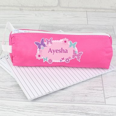 Personalised Butterfly Pencil Case