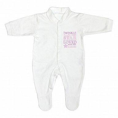 Personalised Twinkle Girls 12-18 Months Babygrow
