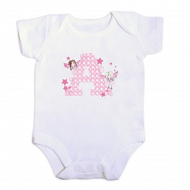 Personalised Fairy Letter 6-9 Months Baby Vest