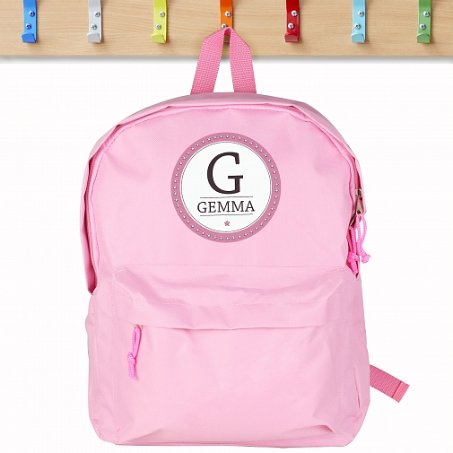 Personalised Star Name Pink Backpack