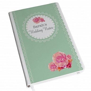 Personalised Vintage Rose Hardback A5 Notebook