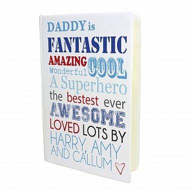Personalised He is... Hardback A5 Notebook