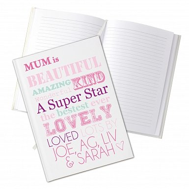 Personalised She Is... Hardback A5 Notebook