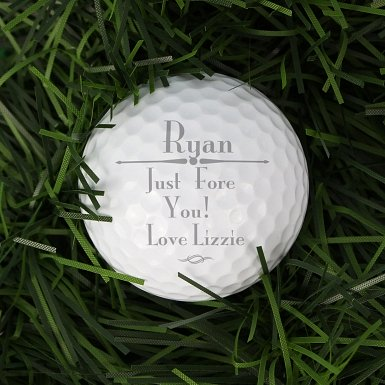 Personalised Message Golf Ball