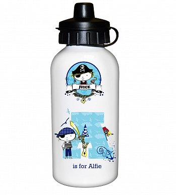 Personalised Pirate Letter Drinks Bottle