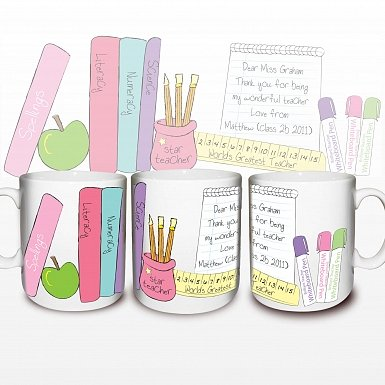 Personalised Female Teacher Mug