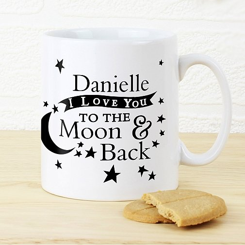 Personalised To the Moon and Back Mug