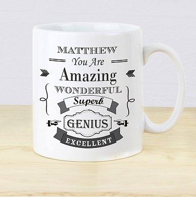 Personalised Vintage Typography Mug