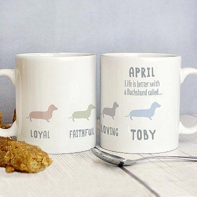 Personalised Dachshund Dog Breed Mug