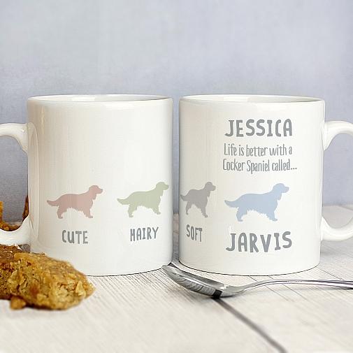 Personalised Cocker Spaniel Dog Breed Mug