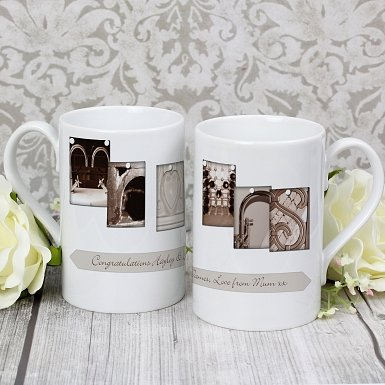 Personalised Affection Art Mr & Mrs Slim Mug