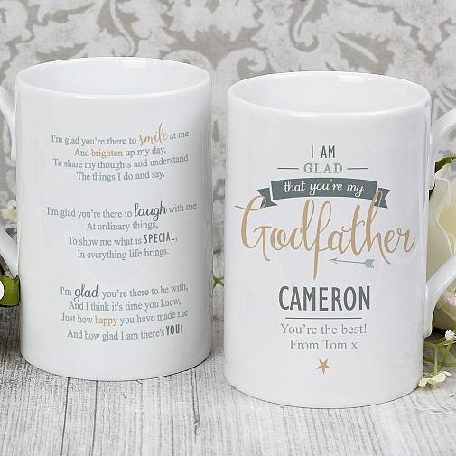 Personalised I Am Glad... Godfather Slim Mug