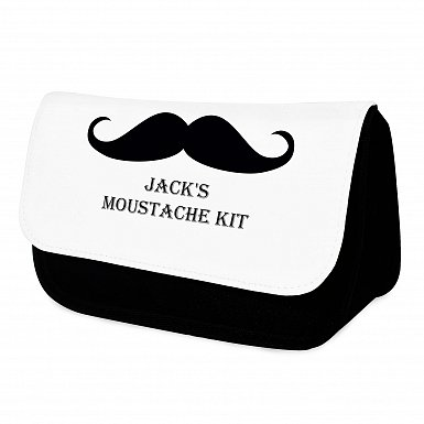 Moustache Wash Bag For Him