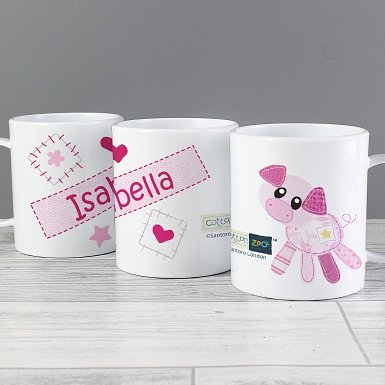 Personalised Cotton Zoo Organdie Plastic Cup