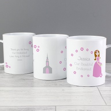Personalised Fabulous Little Bridesmaid Plastic Cup