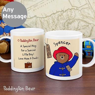 Personalised Paddington Bear Plastic Mug