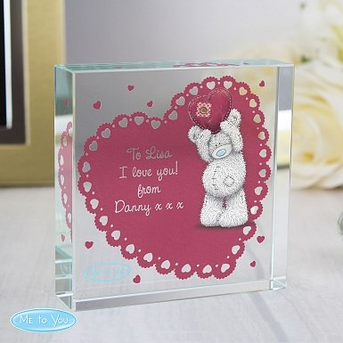 Personalised Me To You Heart Large Crystal Token UK [United Kingdom]