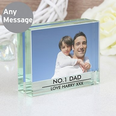 Personalised Classic Crystal Photo Block Frame