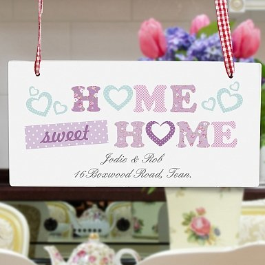 Personalised Floral Design Home Wooden Sign
