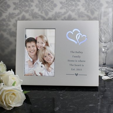 Personalised Hearts Any Message 6x4 Light Up Frame