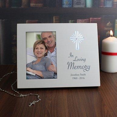Personalised Cross Loving Memory 6x4 Light Up Frame