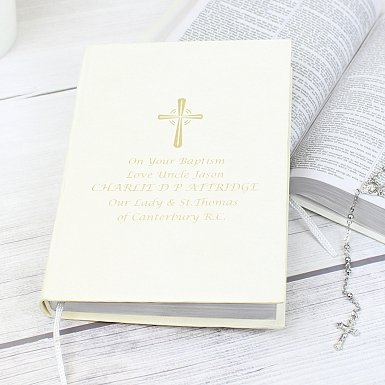 Personalised Gold Companion Holy Bible - Eco-friendly
