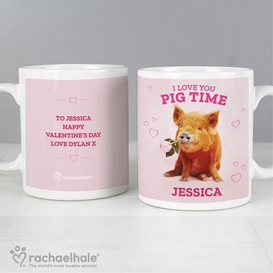 Personalised Rachael Hale I Love You Pig Time Mug