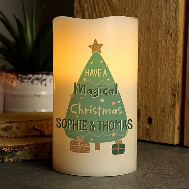 Personalised Magical Christmas LED Candle