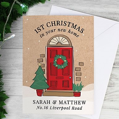 Personalised 1st Christmas In Your New Home Card