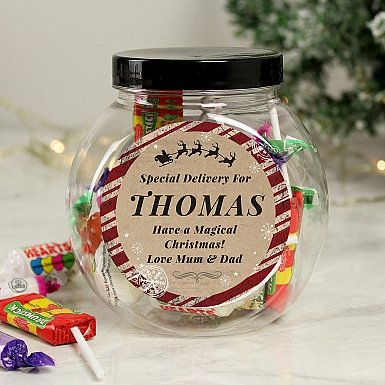 Personalised Special Delivery Sweet Jar